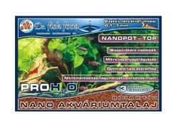Dr. Fishfood PRO H2O Bioaktiv nano akváriumtalaj 3 literes