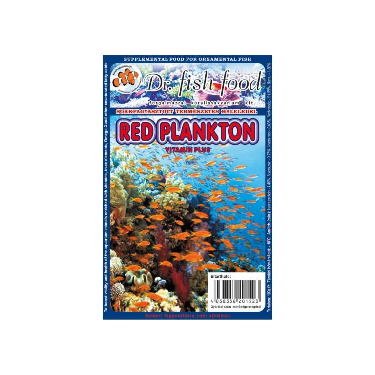 Dr. Fishfood Fagyasztott Vörös plankton 100g