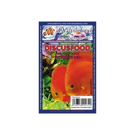Dr. Fishfood Fagyasztott Discusfood Intensive Red 500g