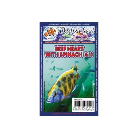 Dr. Fishfood Fagyasztott Marhaszív spenóttal /Diszkoszoknak/ 500g
