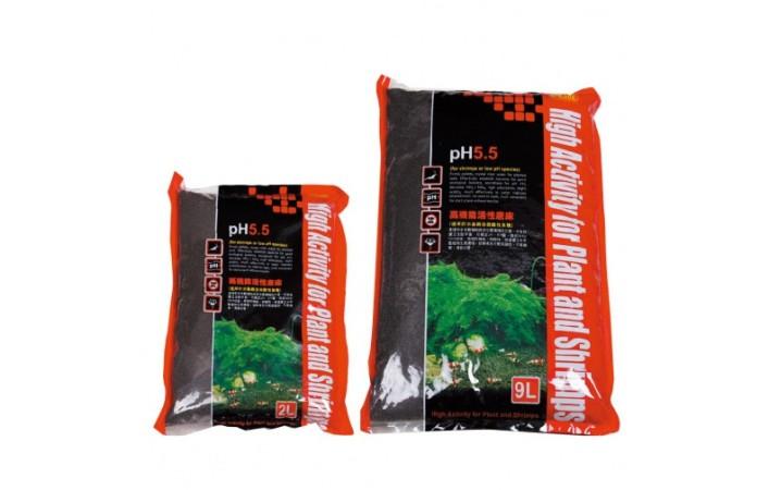 ISTA - Shrimp Soil - pH5.5  9L / S (Növényi táptalaj, aljzat garnélás akváriumokba 1-2 mm)
